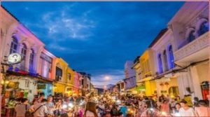 ชิโนโปรตุกีส ย่านเมืองเก่า ตลาดนัดคนเดิน งหวัดภูเก็ต